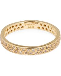 Satomi Kawakita - Gold Brown Diamond Double Eternity Ring - Lyst