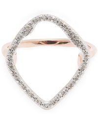 Monica Vinader Rose Gold-plated Riva Hoop Diamond Cocktail Ring