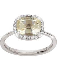 Dinny Hall - White Gold Sheba Cushion Sapphire And Diamond Ring - Lyst