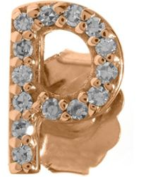 KC Designs - Rose Gold Diamond P Single Stud Earring - Lyst