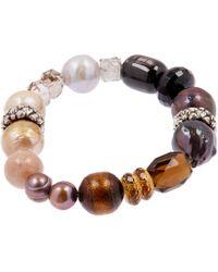 Stephen Dweck - Silver Multi-stone Beaded Bracelet - Lyst
