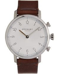 Kronaby - Nord Leather Strap Watch - Lyst