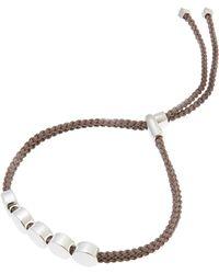 Monica Vinader - Silver Mink Cord Linear Bead Friendship Bracelet - Lyst