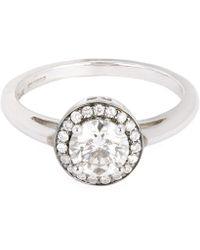 Anna Sheffield - White Gold Round Rosette White Diamond Ring - Lyst