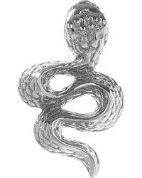 Maria Tash Large Engraved Diamond Snake Threaded Stud Earring Left