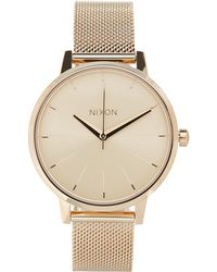 Nixon - Rose Gold-tone Kensington Milanese Watch - Lyst