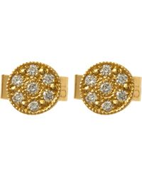 Brooke Gregson - Gold Mini Mars Diamond Stud Earrings - Lyst