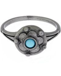Valentino - Circle Stone Ring - Lyst