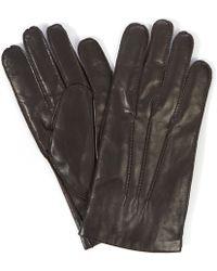 Simon Carter - Plain Leather Gloves - Lyst