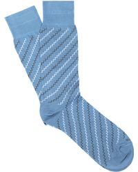 Etiquette - Step It Up Mini Zig Zag Sock - Lyst