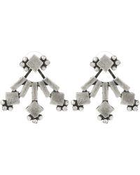 DANNIJO - Drava Oxidized Silver-plated Swarovski Crystal Earrings - Lyst