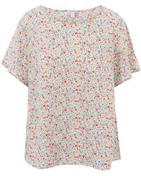 Uniqlo - Kimberly And Sarah A Printed Linen Short Sleeve Blouse - Lyst