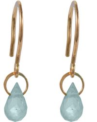 Melissa Joy Manning - Mini Gold Blue Topaz Drop Earring - Lyst