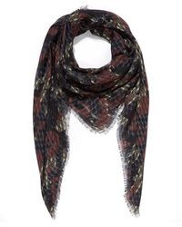 Pierre Hardy - Camouflage Cube Printed Scarf - Lyst