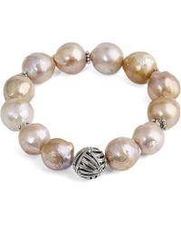 Stephen Dweck - Champagne Baroque Pearl Bracelet - Lyst