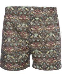 Liberty - Strawberry Thief Cotton Boxer Shorts - Lyst