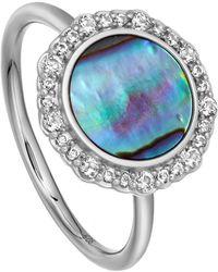 Astley Clarke - Silver Luna Abalone Sapphire Ring - Lyst