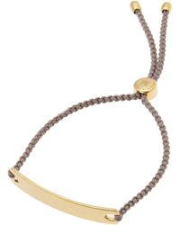 Monica Vinader - Gold-plated Mink Cord Havana Friendship Bracelet - Lyst