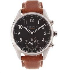 Kronaby - Apex Leather Dial Smart Watch - Lyst