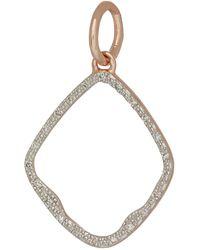 Monica Vinader - Rose Gold Vermeil Diamond Riva Hoop Pendant - Lyst