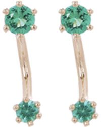 Satomi Kawakita - Gold Twin Emerald Stud Earrings - Lyst