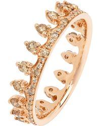 Annoushka - Rose Gold Brown Diamond Crown Ring - Lyst