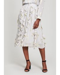 Needle & Thread - Lurex Butterfly Midi Skirt - Lyst