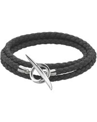 Shaun Leane - Silver Black Leather Quill Bracelet - Lyst
