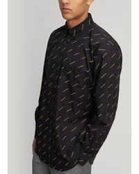 Balenciaga - All-over Logo Shirt - Lyst