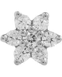 Maria Tash - 4.5mm Diamond Flower Thread Stud - Lyst
