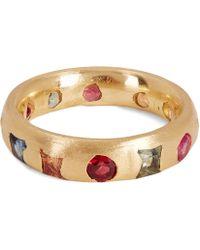 Polly Wales - Gold Celeste Medium Ruby Crystal Ring - Lyst