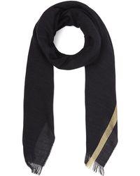 Johnstons - Gold Ribbon Wool-blend Scarf - Lyst