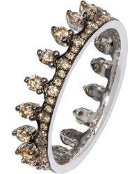 Annoushka - Brown Diamond White Gold Crown Ring - Lyst