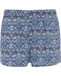 Liberty - Strawberry Thief Tana Lawn Cotton Boxer Shorts - Lyst