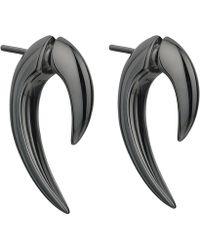 Shaun Leane - Black Silver Rhodium Talon Earrings - Lyst