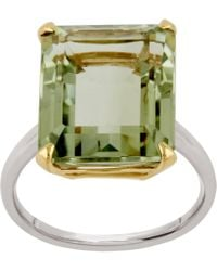 Dinny Hall - Silver And Gold Amica Green Amethyst Ring - Lyst