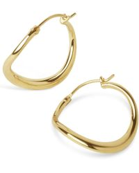 Dinny Hall - Small Wave Hoop Earrings - Lyst