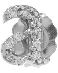 KC Designs - Rose Gold Diamond A Single Stud Earring - Lyst