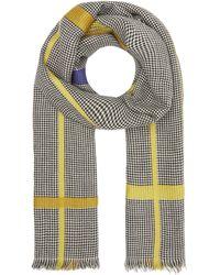 Inouitoosh Check Stripe Wool Scarf - Multicolour