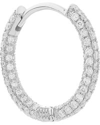 "Maria Tash - 3/8"" Diamond Five Row Pave Earring - Lyst"