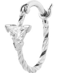 Maria Black - White Gold Diamond Cut Viper Single Hoop Earring - Lyst