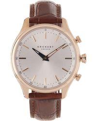Kronaby - Sekel Leather Smart Watch - Lyst