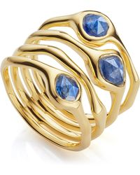 Monica Vinader - Gold Vermeil Siren Cluster Kyanite Cocktail Ring - Lyst