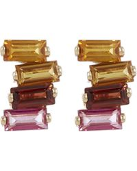 Suzanne Kalan - Gold Topaz Stud Earrings - Lyst