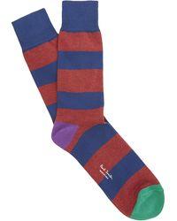 Paul Smith - Block Stripe Socks - Lyst