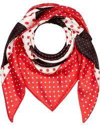 Valentino - Classic Dot Silk Foulard Scarf - Lyst