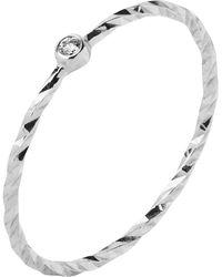 Maria Black - White Gold Diamond Cut Jabari Ring - Lyst