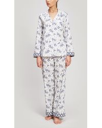 Liberty - Dorothea And Eleonora Brushed Cotton Pyjama Set - Lyst