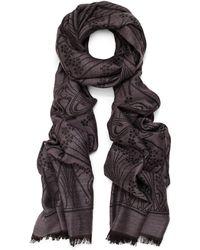Liberty - Ianthe 70x200 Jacquard Wool Blend Scarf - Lyst