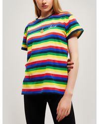 Être Cécile - Rainbow Stripe Oversize Cotton T-shirt - Lyst